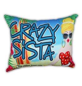 Crazy Sista Outdoor Pillow