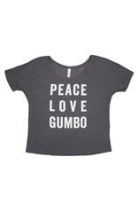 Peace Love Gumbo Flowy Tee