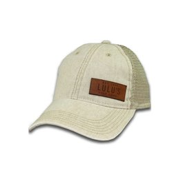 Side Leather Plate Trucker Hat