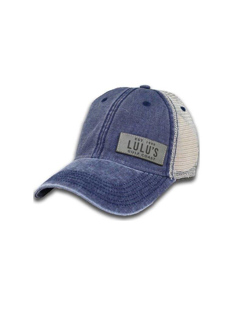 Side Leather Plate Trucker Hat