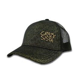 Crazy Sista Glitter Trucker Hat