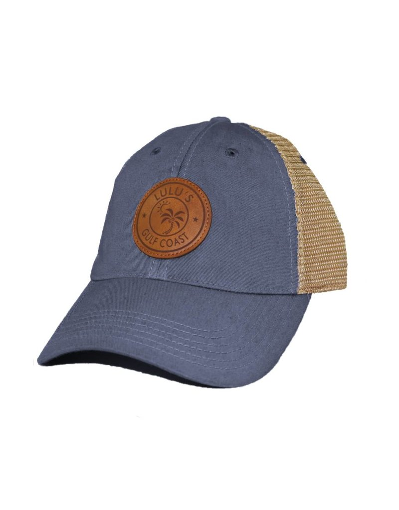 Leather Palm Circle Trucker Hat