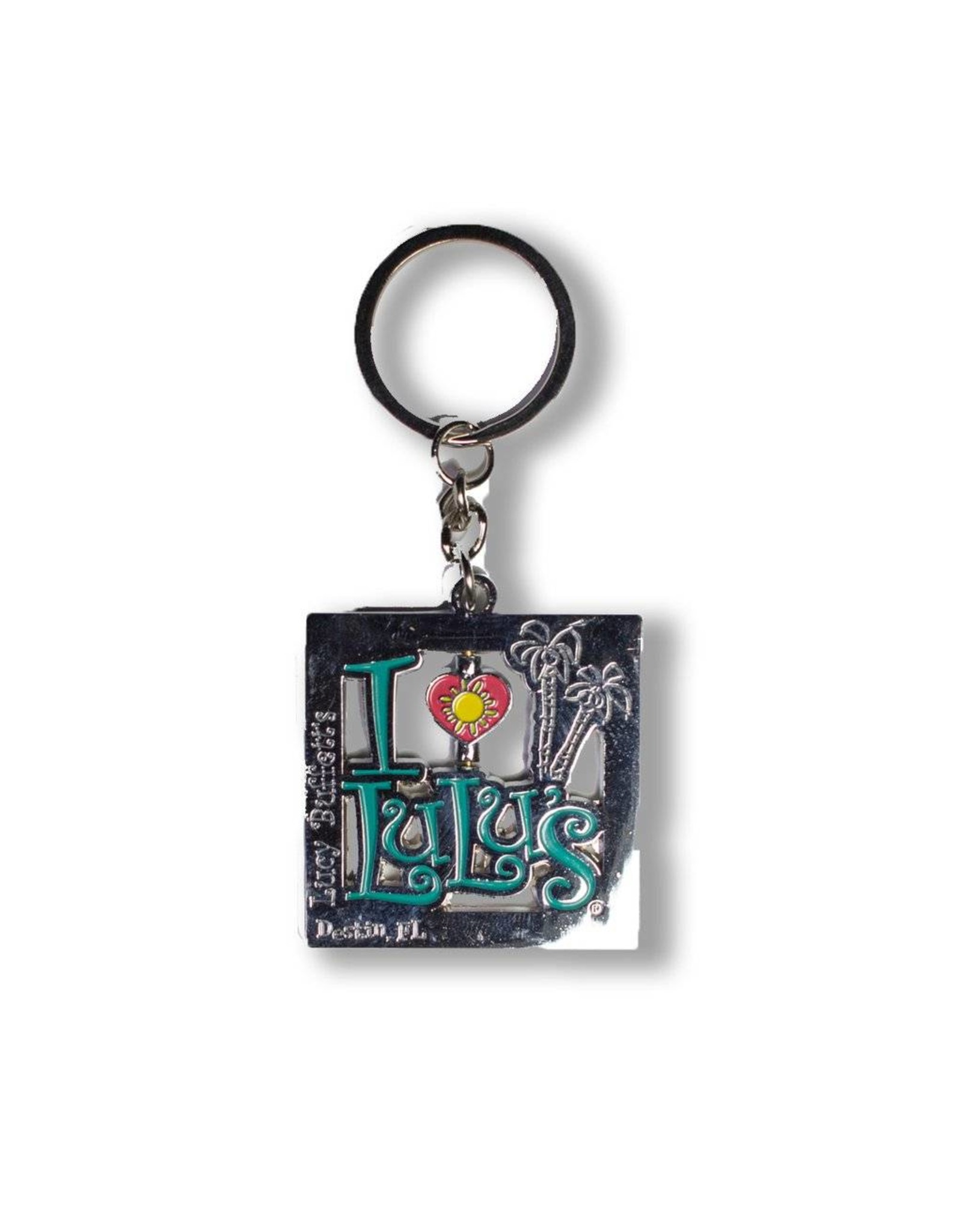 Destin Square Keychain