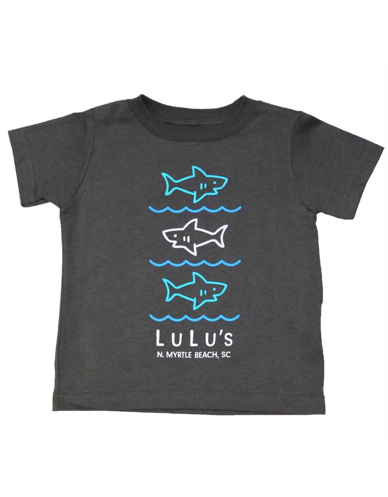 Lulu's Logo Gulf Shores Infant Stacked Shark Tee