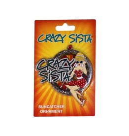 Crazy Sista Sun Catcher Ornament