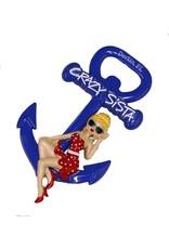 Crazy Sista Anchor Magnet