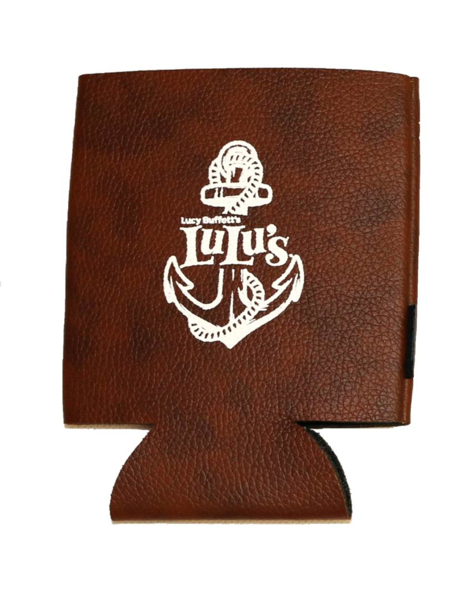 Leather Anchor Koozie