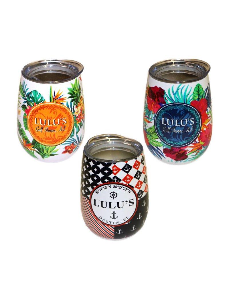 LuLu's Pattern Wine Tumblers