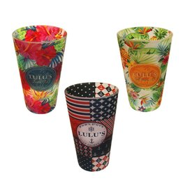 LuLu's Logo NMB LuLu's Pattern Frosted Pint Glass