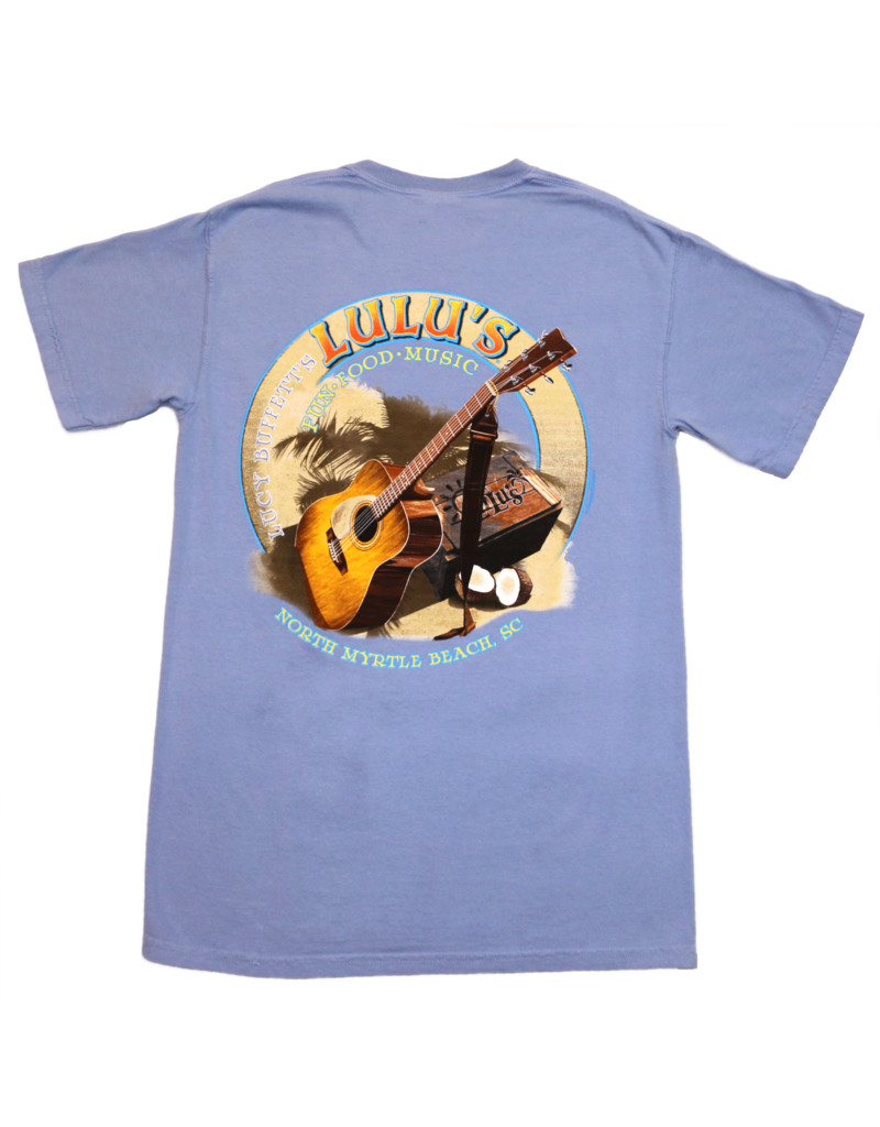 Guitar on Sand Pocket Tee