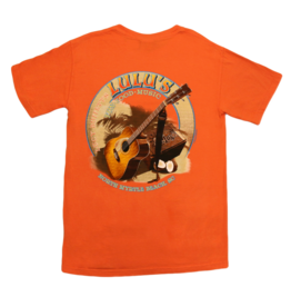 Lulu's Logo Apparel Guitar on Sand Pocket Tee