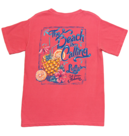Lulu's Logo Gulf Shores The Beach is Calling Tee