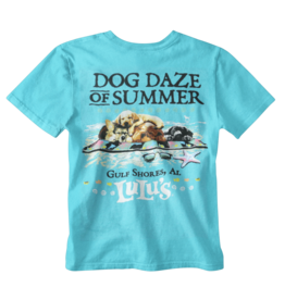Lulu's Logo Gulf Shores Dog Daze Puppies Tee