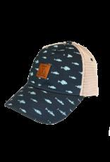 Fish Print Trucker Hat