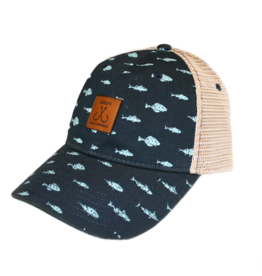 Fish Print Trucker Hat