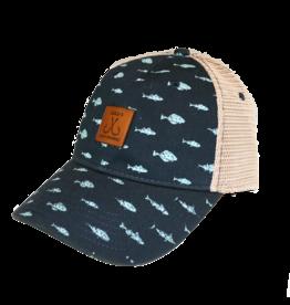 LuLu's Logo NMB Fish Print Trucker Hat