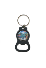 Chalk Art Bottle Opener Keychain
