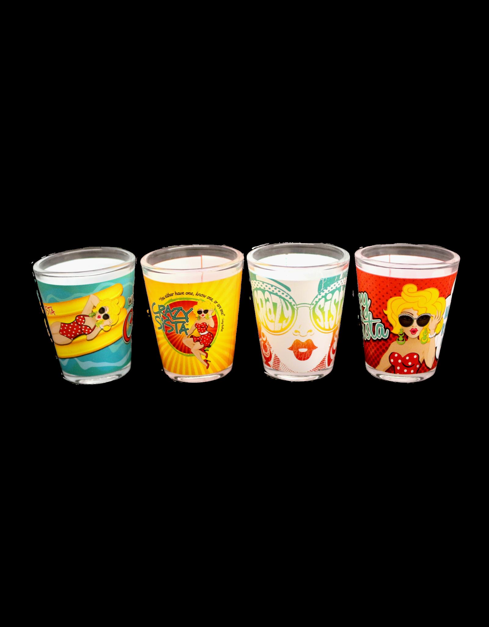 Crazy Sista Crazy Sista 4 Pack Shot Glasses