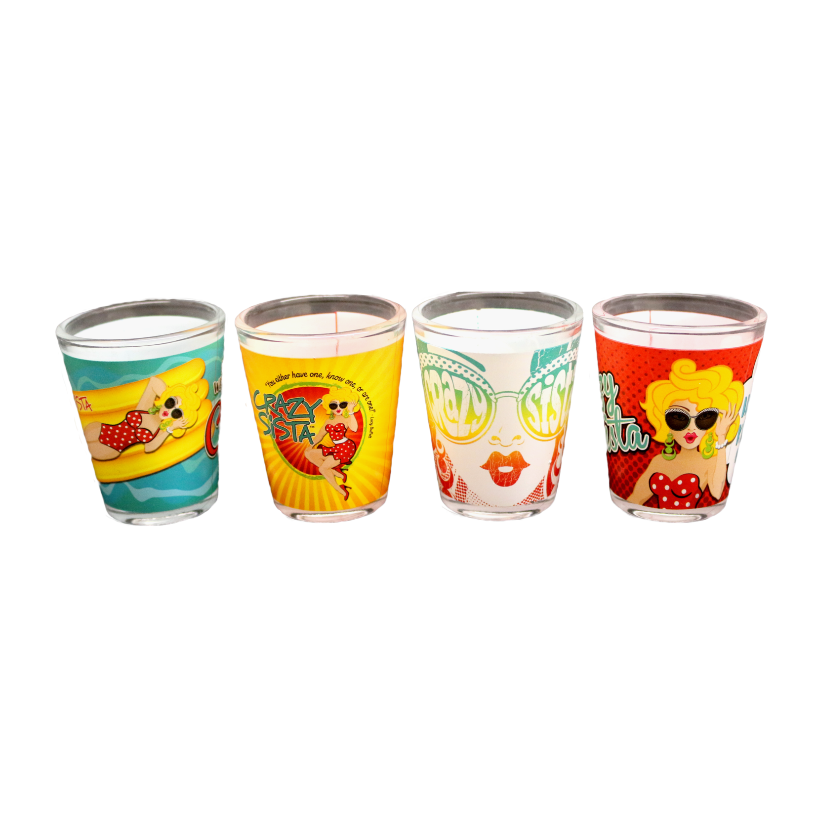Crazy Sista Crazy Sista Designs Shot Glass