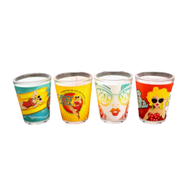 Crazy Sista 4 Pack Shot Glasses