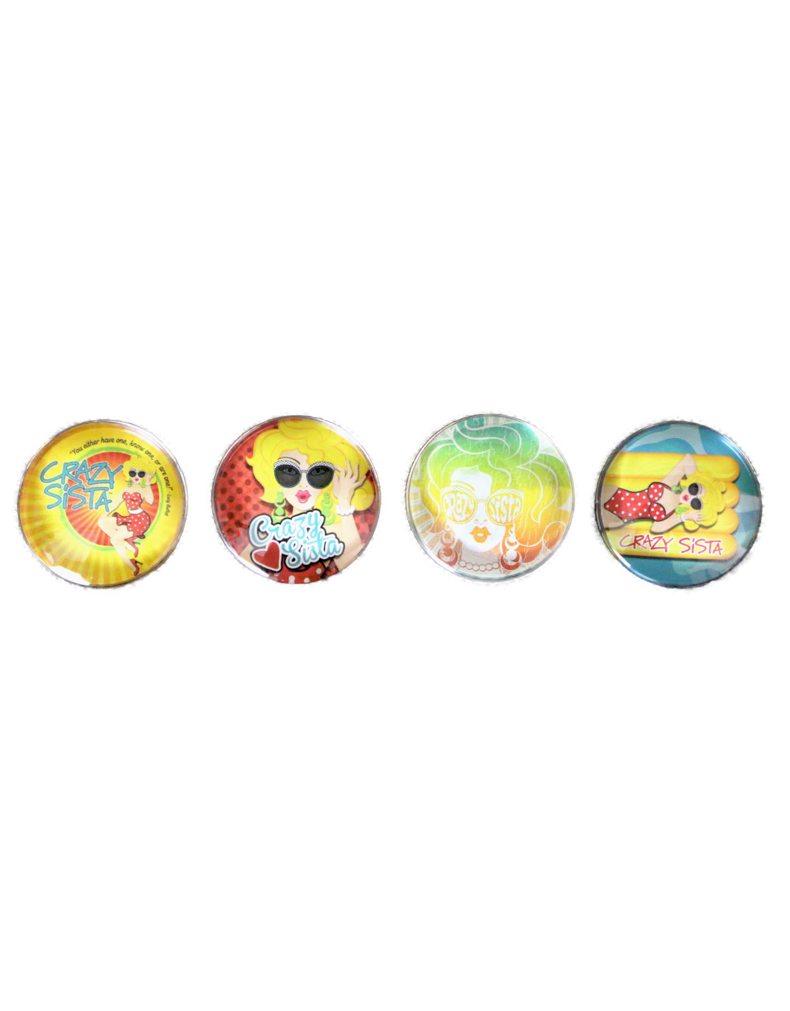 Crazy Sista Crazy Sista 4 Pack/Single Magnet