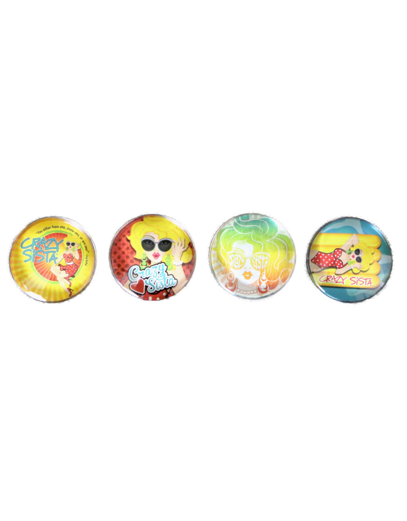 Crazy Sista 4 Pack Magnets