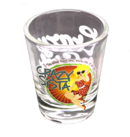 Crazy Sista Shot Glass
