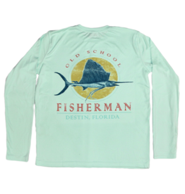 Old School Fisherman Performance Long Sleeve