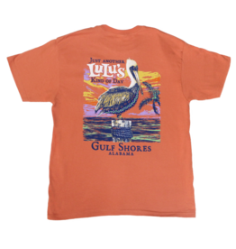 Lulu's Logo Gulf Shores Kind of Day Pelican Tee