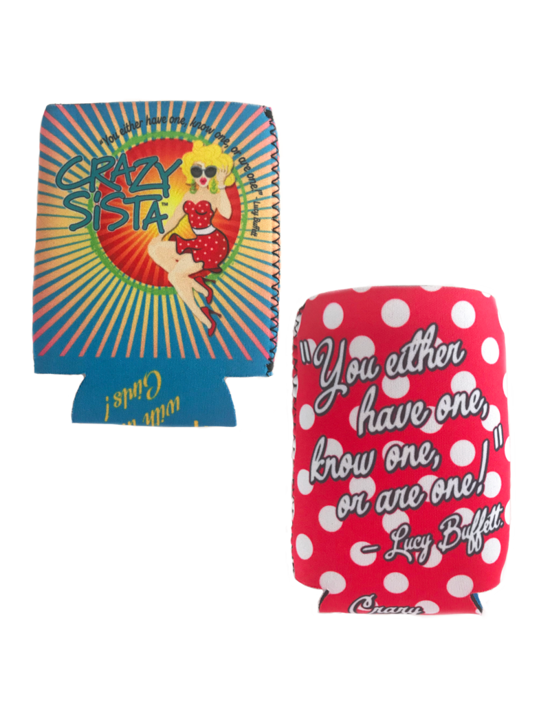 Crazy Sista Reversible Can Koozie