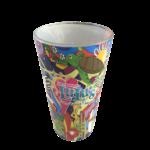 Hippie Art Pint Glass