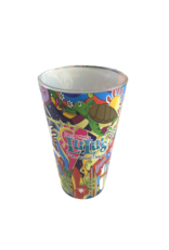 Hippie Art Pint Glass