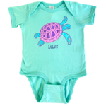 Infant Bubblegum Turtle Onesie