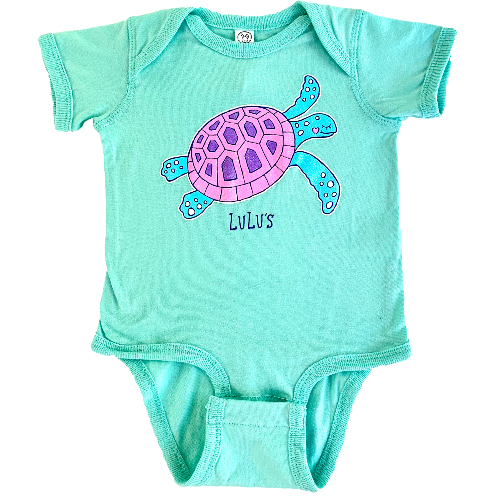 Infant Bubble Gum Turtle Onesie