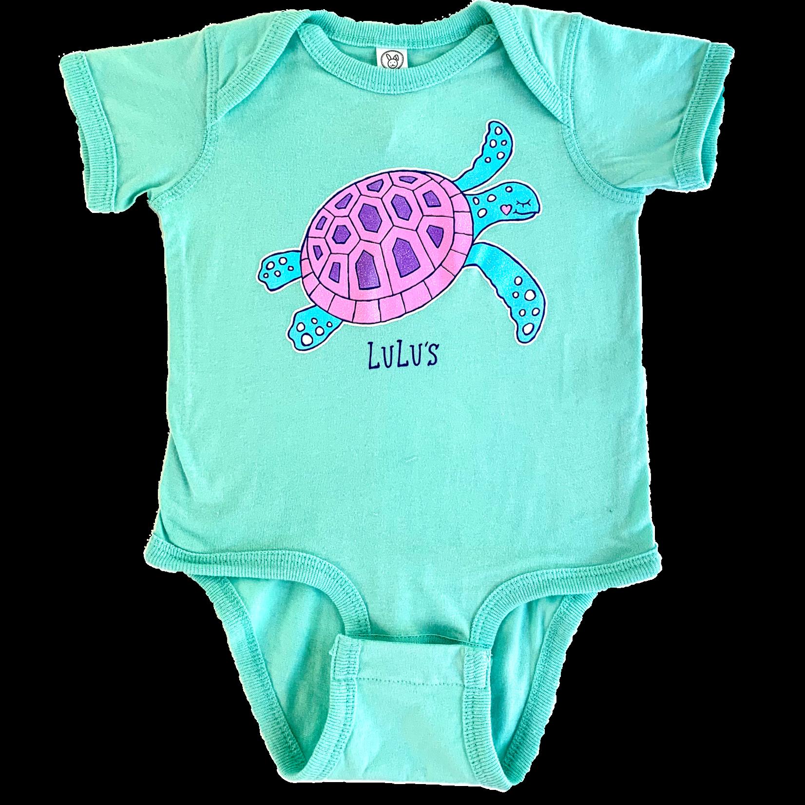 Infant Bubblegum Turtle Onesie