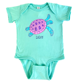 Infant Bubble Gum Turtle Onesie