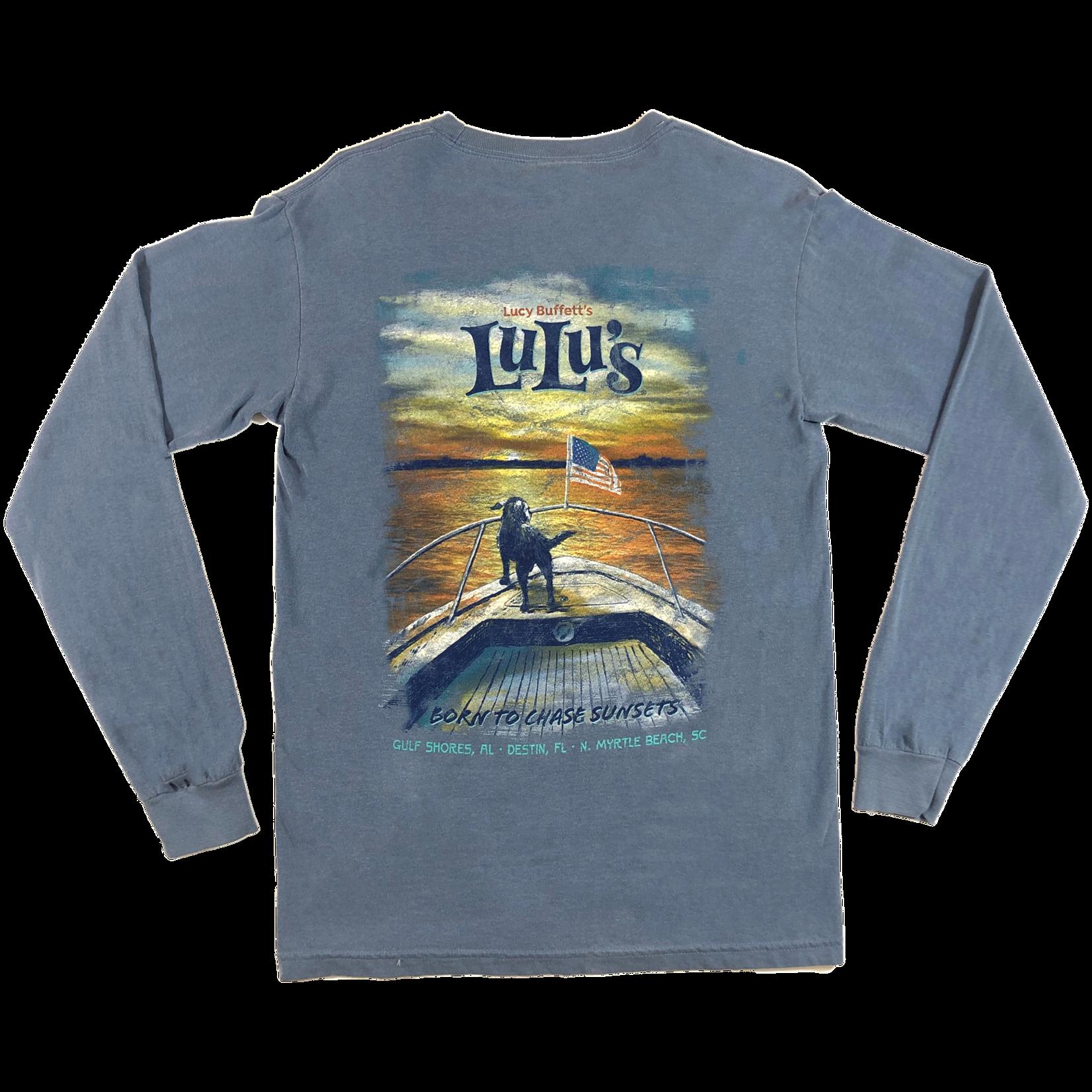 LuLu's Brand Apparel Chase Sunsets Pocket Long Sleeve