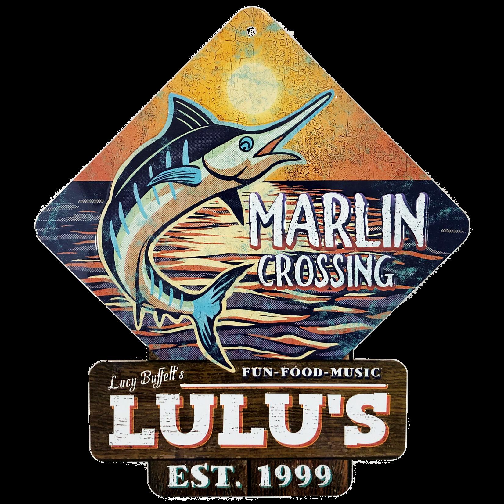 Marlin Crossing Metal Sign