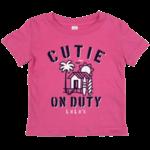 LuLu's Brand Apparel Infant Cutie On Duty Tee