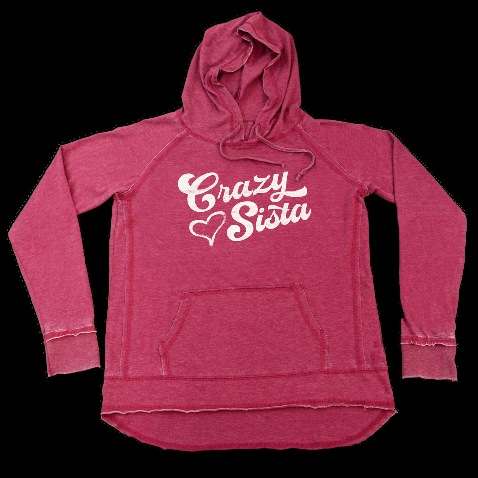 Crazy Sista Crazy Sista Heart Vintage Hoodie