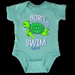 Infant Born to Swim Onesie