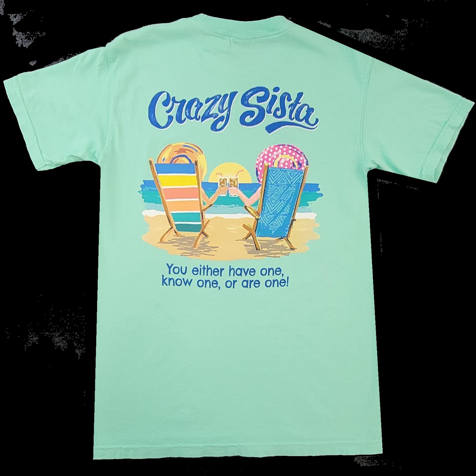 Crazy Sista Beach Chairs Tee