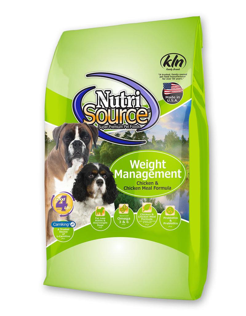 Nutrisource Nutrisource Chicken & Rice Weight Management