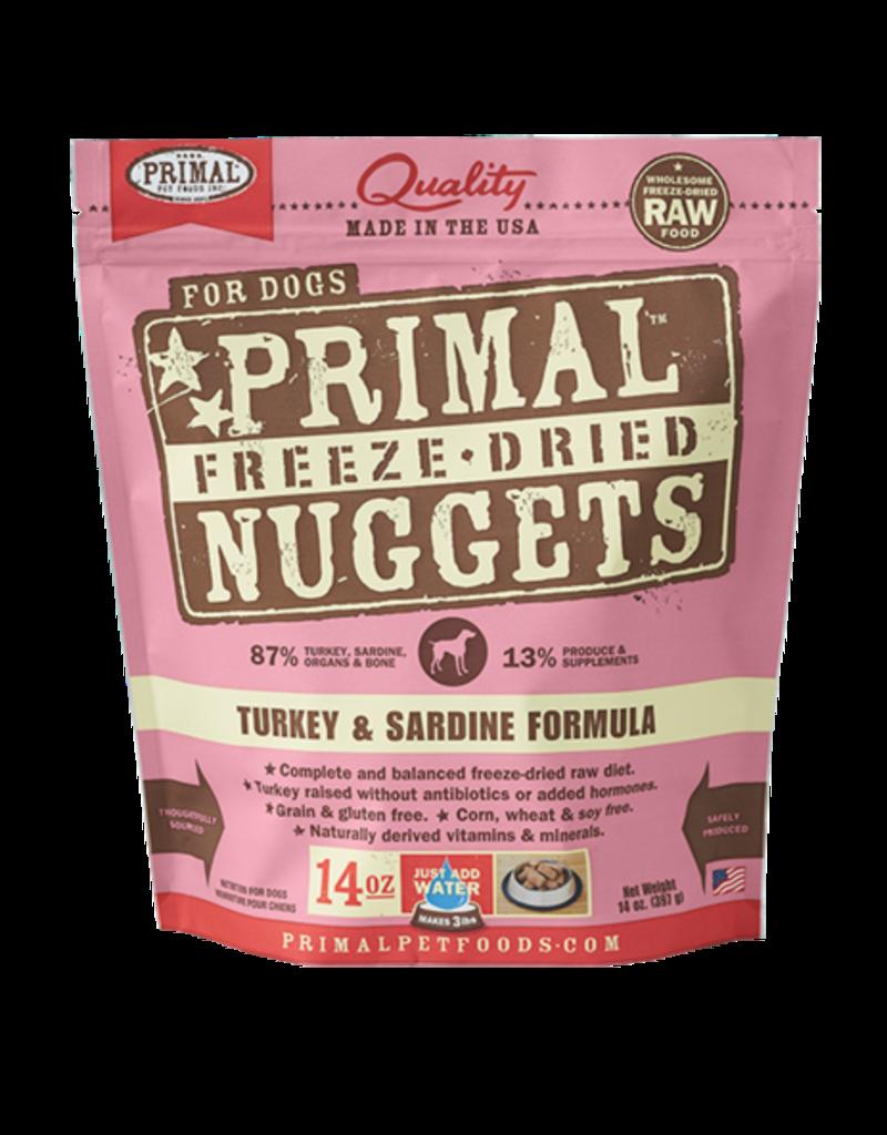 Primal Primal Freeze Dried Nuggets Turkey Sardine