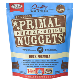 Primal Primal Freeze Dried Nuggets Duck