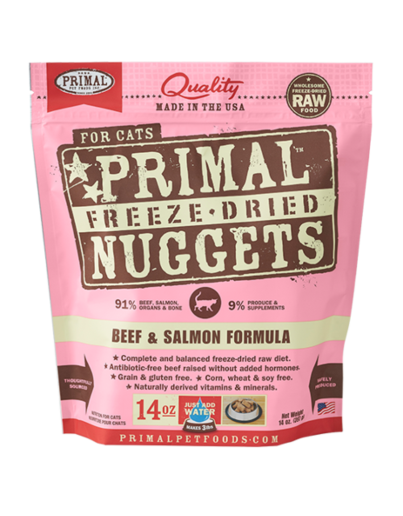 Primal Primal Freeze Dried Nuggets Beef & Salmon