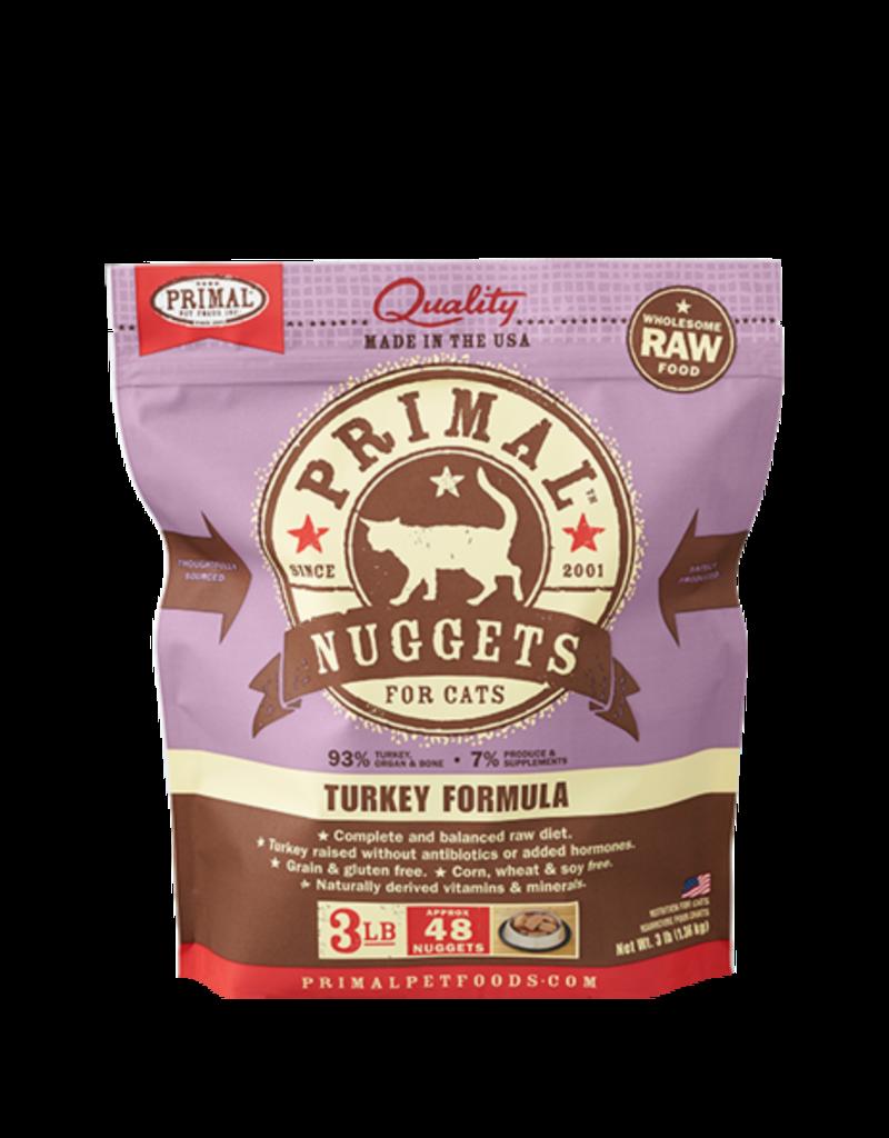 Primal Primal Frozen Raw Turkey Nuggets Cat 3lb
