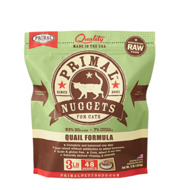 Primal Primal Frozen Raw Quail Nuggets Cat 3lb