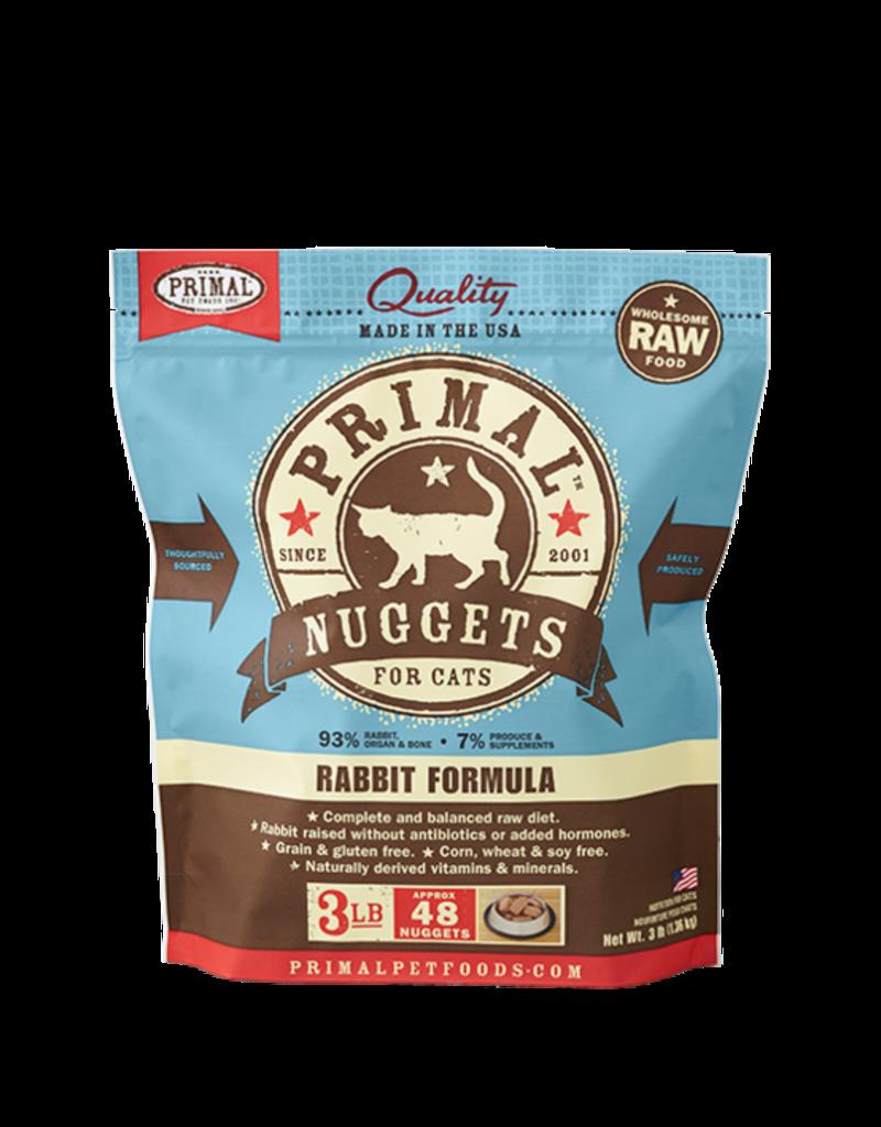 Primal Primal Frozen Raw Rabbit Nuggets Cat 3lb