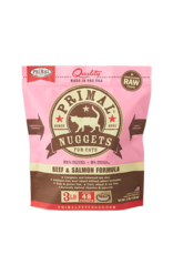 Primal Primal Frozen Raw Beef Salmon Nuggets Cat 3lb